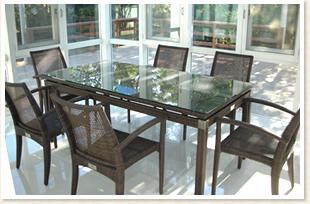 エデン テーブル90×180 スタッキングチェアー